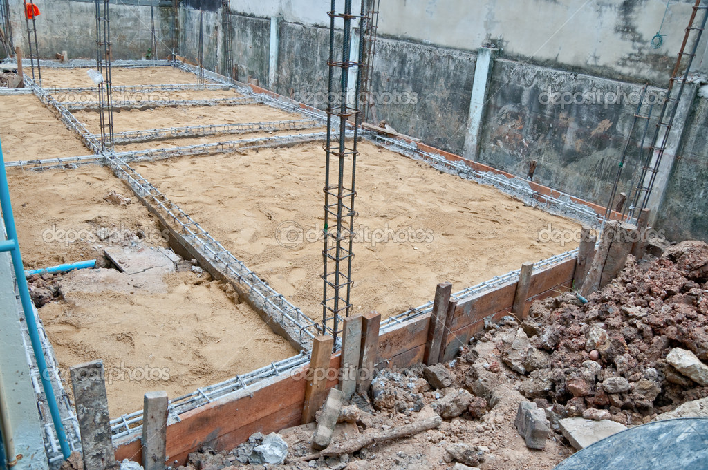 Las obras de rehabilitaci n casa en construcci n foto de for Construccion de casas