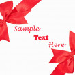 The Red ribbon isolated on white background — Stock Photo #11948232
