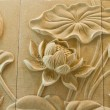 The Sculpture sandstone  of lotus — Stock Photo