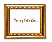 Le cadre blanc vintage isolé sur fond blanc — Photo