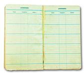 Das vintage notizbuch isoliert auf weißem hintergrund — Stockfoto