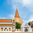 Stock Photo: Ancient stupof phrpathom chedi of nakorn pathom province