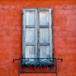 Stock Photo: Old window on wall background