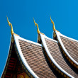 The Beautiful roof of temple on blue sky background — Stock Photo #12084775