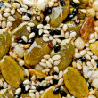 Royalty-Free Stock Photo: The Closeup of dessert crunchy of seed pumpkin with black and wh