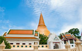 The Ancient stupa of phra pathom chedi of nakorn pathom province — Stock Photo