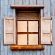 The Old wooden window - Stock Photo