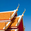 The Beautiful roof of temple on blue sky background — Stock Photo