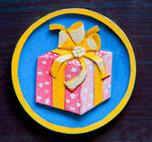 The Sign of gift box — Stock Photo