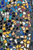 De kleurrijke van mozaïek op de vloer achtergrondstructuur — Stockfoto