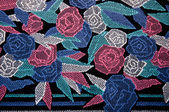 The Pattern rose on rug background — Stock Photo