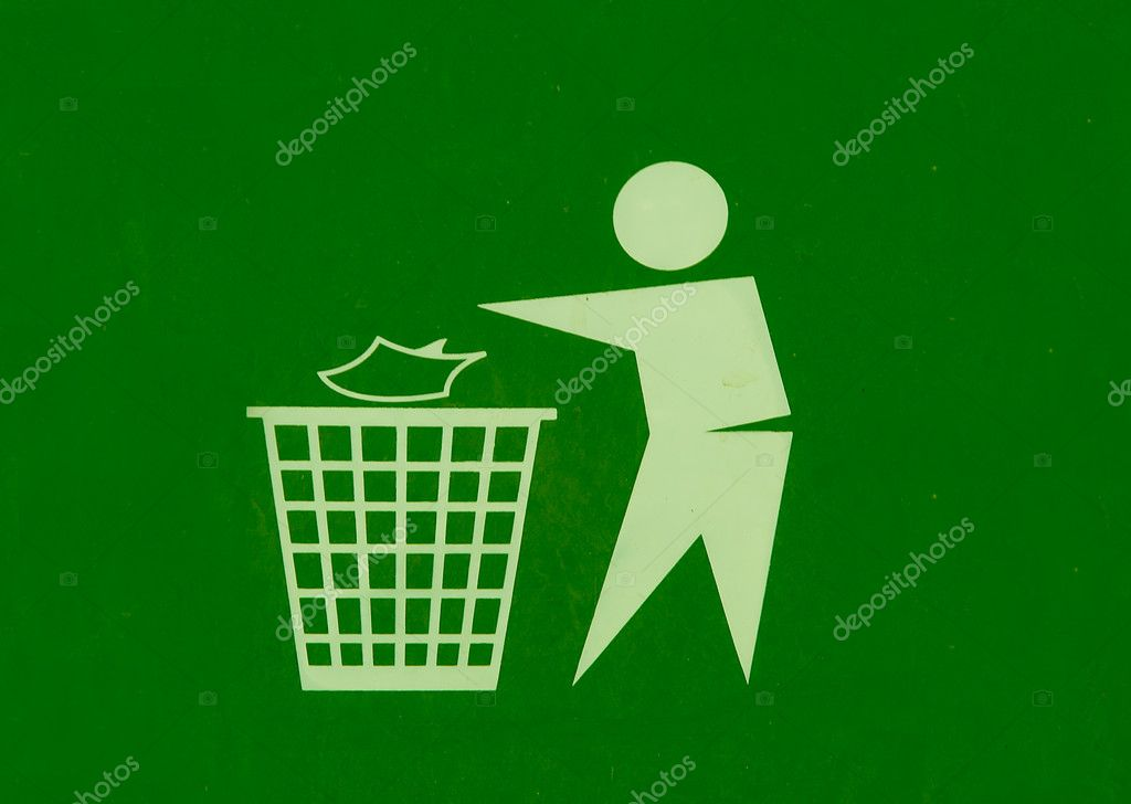 The Sign of throw waste into the bin — Stock Photo #12096923