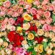 Artificial rose flowers mixed bouquet — Stock Photo