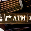 Guide post from bed to atm to toilet — Stock Photo