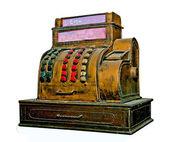 The Vintage slot machine isolated on white background — Stock Photo
