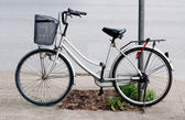 Bicycle on parking — Stock fotografie