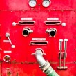The Control equipment of fire truck — Stock Photo