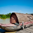 The Old boat in thailand - Stock Photo