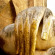 Hand of buddha status — Stock Photo