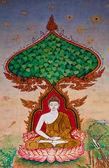 寺の壁に仏の状態についてタイ絵画芸術 — ストック写真
