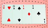 El feliz año nuevo 2011 de tarjetas — Foto de Stock