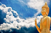 The Buddha status on cloud background — Foto Stock