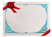 The Diploma frame isolated on white background — Stock Photo