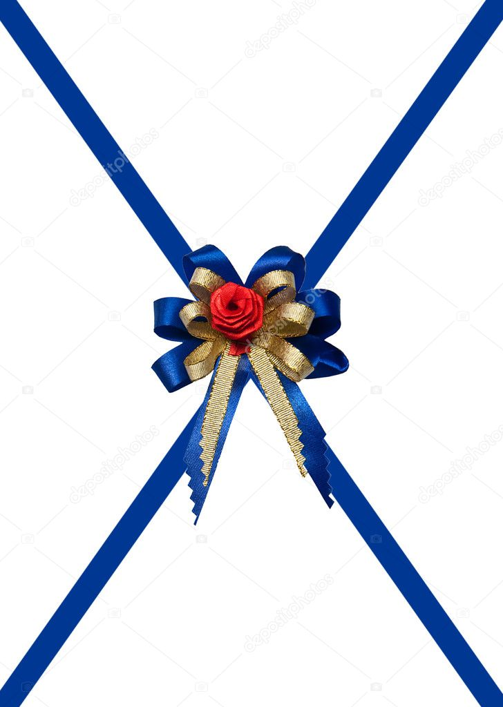 The Blue ribbon isolated on white background — Stock Photo #12176159