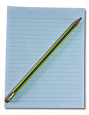 The Paper with pencil isolated on with background — Stock Photo