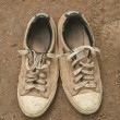The Old sneakers — Stock Photo