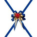 The Blue ribbon isolated on white background — Stock Photo