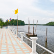 The Pier of Bangpakong river - Foto Stock
