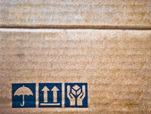 The brown corrugated cardboard texture — Stock Photo