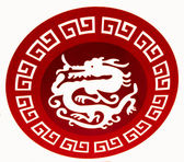 The Red dragon ceramic — Stock Photo