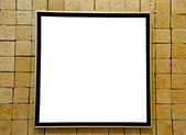 The Blank frame on brick wall — Stock Photo