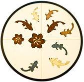 A textura cerâmica de peixe — Foto Stock
