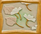 La texture en céramique de fleur — Photo