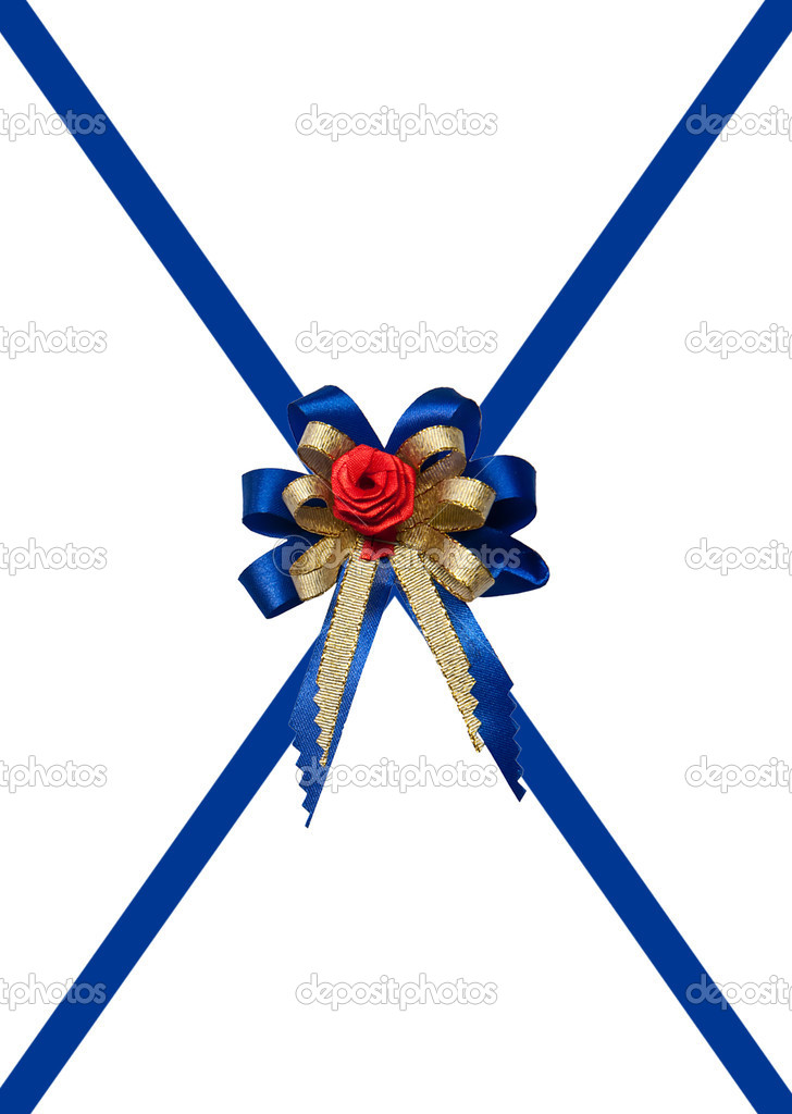 The Blue ribbon  isolated on white background — Stock Photo #12193141