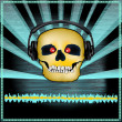 Royalty-Free Stock Vector Image: Skull DJ Set Flyer
