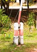 Pole fence. — Stock Photo