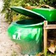 Green bins. — Stock Photo