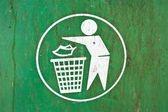 Symbol of a garbage dump. — Stock Photo