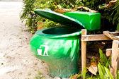 Zielony śmieci. — Zdjęcie stockowe
