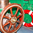 Steering the boat. — Stock Photo