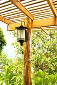 Lamps on the villa terrace. — Stock Photo