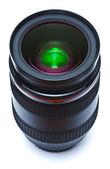 Black lens on white background — Stock Photo