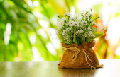 Decorative artificial flowers — Foto de Stock