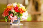 Decorative artificial flowers — Stock Photo