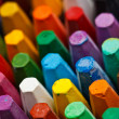 Stack of oil pastels — 图库照片