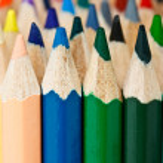Color pencils macro shot — Stock Photo